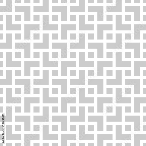 Fotografia  Geometric monochrome seamless pattern in asian style