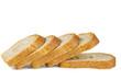 Leinwandbild Motiv Sliced loaf of bread isolated on white background