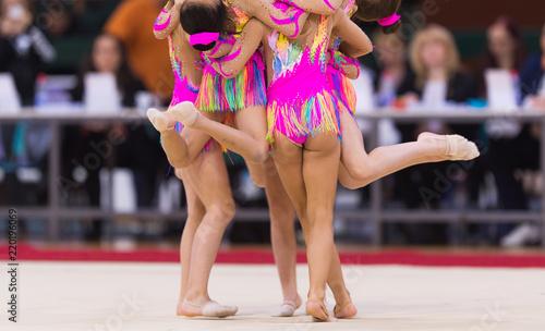 Foto auf Leinwand Gymnastik Rhythmic gymnastics competition