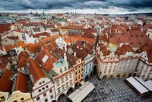 Prague Old Square Tourists
