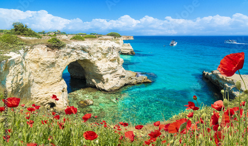 Fototapeta Stacks of Torre Sant Andrea, Salento coast, Puglia region, Italy