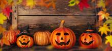 Autumn/halloween Backround Or Banner