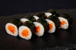 Japanese roll with salmon