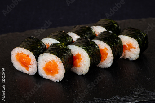 Fototapeta Japanese roll with salmon obraz