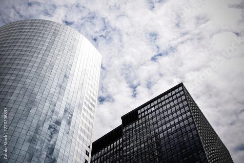 Foto  Skyline of Financial District in Lower Manhattan in New York