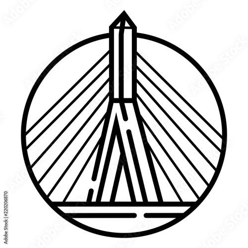 Zakim Bridge icon vector Canvas Print