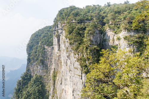 Mountain landscape of zhangjiajie national park, china