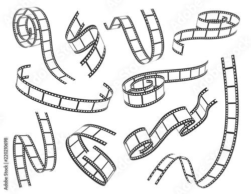 Obraz Film strip set vector illustration on white background - fototapety do salonu