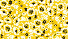 Simple Yellow Flower Seamless ...