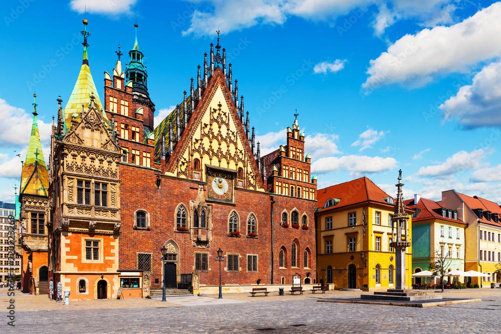 Fototapety, obrazy: Ratusz we Wrocławiu