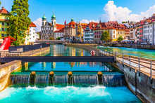 Old Town Architecture Of Lucerne, Switzerland