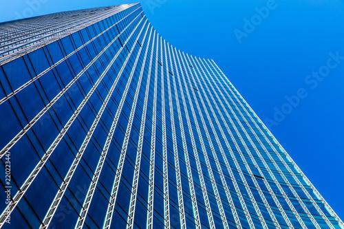 Deurstickers Stad gebouw Modern business office skyscraper building