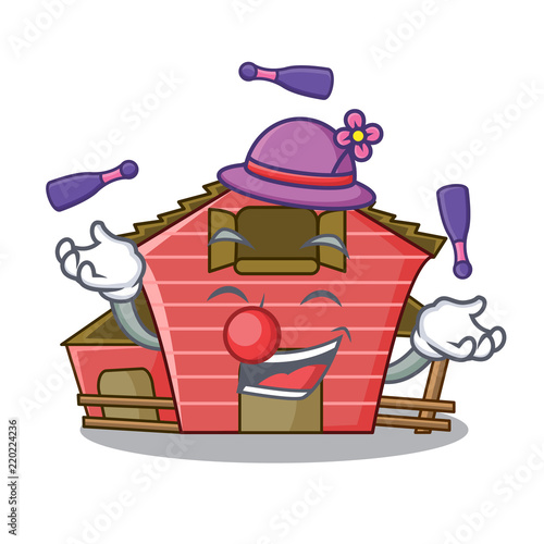 Fotobehang Indiërs Juggling red storage barn isolated on mascot