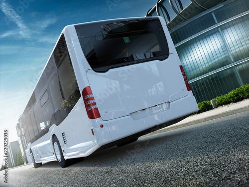 Cuadros en Lienzo  Stadtbus Citybus Heck CG Render