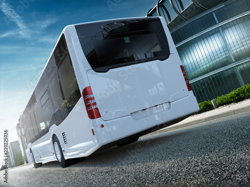 Fototapeta Stadtbus Citybus Heck CG Render