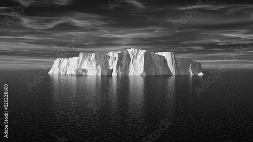 Fotografering View of iceberg with beautiful transparent sea