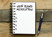 New Year's Resolution On A Notebook