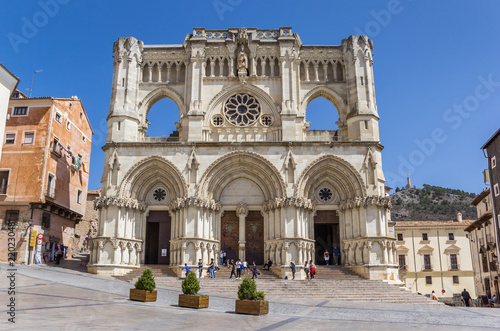Frontal view of the cathedral of Cuenca, Spain