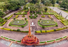 Aerial View Of Chalong Temple ...