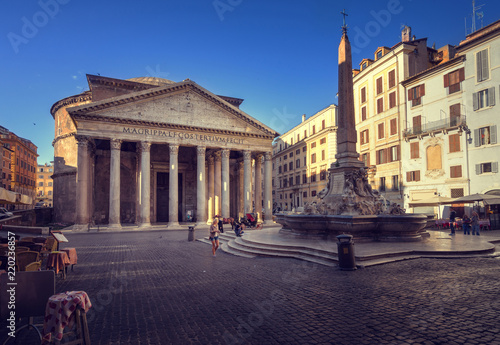 Deurstickers Centraal Europa Pantheon in Rome, Italy