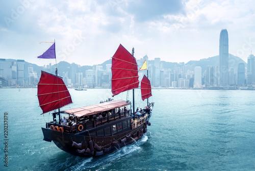 Staande foto Aziatische Plekken Hong Kong harbour, China