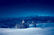 Leinwanddruck Bild - Starry winter night