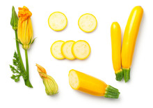 Yellow Zucchini With Leaf And ...