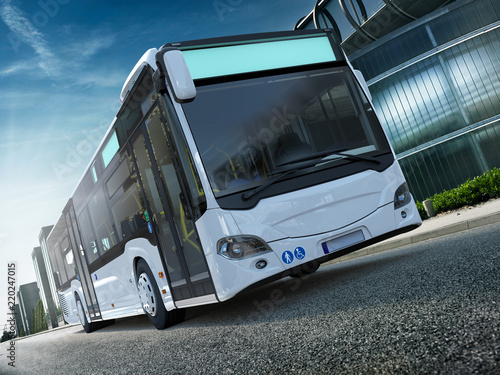Foto  Stadtbus Citybus Frontal CG Render