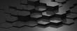 canvas print picture - Hexagon Carbon