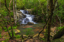 Hin Sam Chan Waterfall, Beautiful Waterfall In Phu Rua National Park, Loei Province, ThaiLand.
