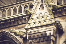 Ornament Of Cathedral Frontage In Paris