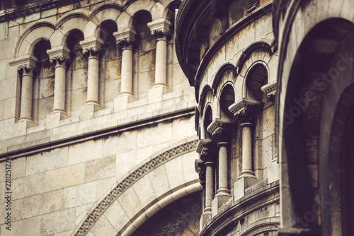 Frontage of ancient building in Paris