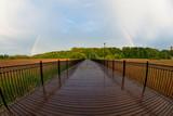 Fototapeta Tęcza - Tęcza Człuchów kładka Park Luizy