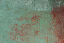 Old Green Rusted Iron Plate Abandonment Abstract Detail Texture Background Beautiful.