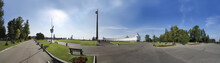 Panorama Of Victory Monument. Victory Park On The Poklonnaya Gora (the Poklonnay Hill)