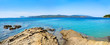 Panoramic view of Skiatos island in Greece