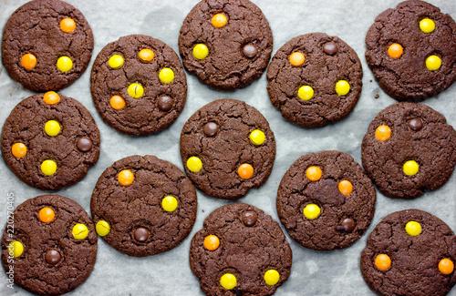 Halloween cookies, chocolate cookies for Halloween party