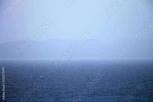 Spoed Foto op Canvas Mediterraans Europa Thunderstorm above Adriatic sea in Croatia