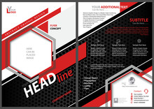 Abstract Flyer Template With B...
