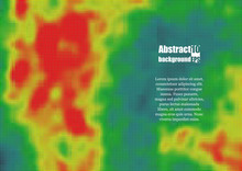 Colored Heat Map For Temperature. Eps10 Vector Illustration
