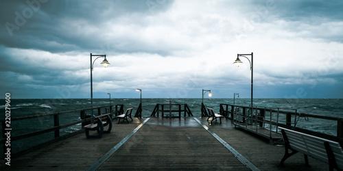 Fotobehang Onweer stormy sea