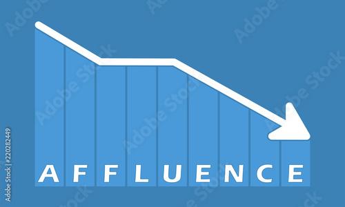 Affluence - decreasing graph Canvas Print