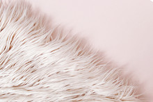 Pink Fluffy Fur Background.  F...