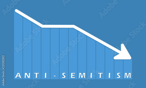 Anti-semitism - decreasing graph Canvas Print