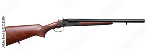 Fotografia  Classic hunting rifle isolated on white background