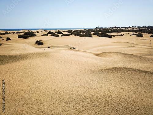 Spoed Foto op Canvas Zandwoestijn Drohnenbild, Wüste, Dünen