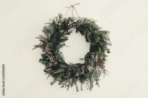 Fotografía  modern Christmas wreath