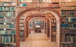 Leinwandbild Motiv Custom library