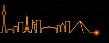 Las Vegas Light Streak Skyline