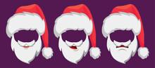 Santa Claus Hat And Beard Set